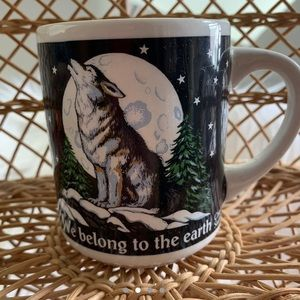 Vintage Kitchen - Vintage Howling Wolf Mug